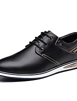 cheap -Men's Formal Shoes Cowhide Spring / Fall Casual / British Oxfords Non-slipping Black / Brown / Blue