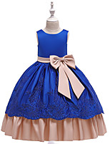 cheap -Princess Dress Flower Girl Dress Girls' Movie Cosplay A-Line Slip Cosplay Dark Green / Light Purple / Red Dress Halloween Carnival Masquerade Silk