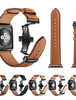 Недорогие -Группа SmartWatch для Apple Watch серии 4/3/2/1 кожа бабочка пряжка ремешок iwatch ремешок
