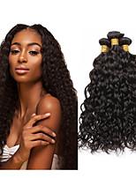 Недорогие -3 Связки Бразильские волосы Волнистые Не подвергавшиеся окрашиванию Wig Accessories Человека ткет Волосы Пучок волос 8-28 дюймовый Естественный цвет Ткет человеческих волос Без запаха Гладкие Sexy
