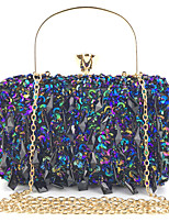 cheap -Women's Chain Polyester Evening Bag Solid Color Black / White / Blushing Pink