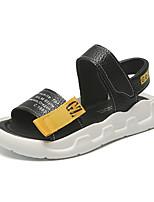 cheap -Boys' Comfort Microfiber Sandals Flat Sandals Little Kids(4-7ys) / Big Kids(7years +) White / Black Summer / Fall / 3D / Slogan / Rubber