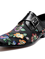 cheap -Men's Novelty Shoes Canvas / Nappa Leather Spring & Summer / Fall & Winter Casual / British Loafers & Slip-Ons Non-slipping Black / Red / Party & Evening