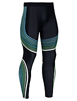 abordables -Homme Collants de Course Running Bande latérale Contour Des sports Leggings Course / Running Fitness Jogging Respirable Evacuation de l'humidité Séchage rapide Bloc de Couleur Blanche Jaune Vert Bleu