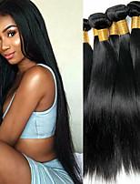 Недорогие -6 Связок Бразильские волосы Прямой 100% Remy Hair Weave Bundles Человека ткет Волосы Пучок волос One Pack Solution 8-28 дюймовый Естественный цвет Ткет человеческих волос Простой Без запаха Толстые