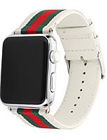 Недорогие -Ремешок для часов для Серия Apple Watch 5/4/3/2/1 Apple Спортивный ремешок Нейлон / Натуральная кожа Повязка на запястье