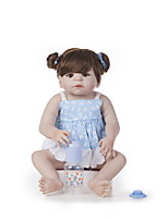 cheap -22 inch Reborn Doll Baby Girl Kids / Teen Full Body Silicone with Clothes and Accessories for Girls' Birthday and Festival Gifts