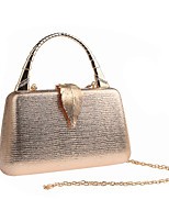 cheap -Women's Chain Polyester Evening Bag Solid Color Black / Champagne / Gold