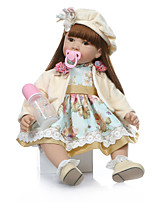 cheap -NPKCOLLECTION Reborn Doll Baby Girl 24 inch Gift Hand Made Artificial Implantation Brown Eyes Kid's Unisex Toy Gift