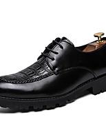 Недорогие -Муж. Официальная обувь Синтетика Весна / Наступила зима Деловые / На каждый день Туфли на шнуровке Нескользкий Черный / Винный
