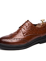 Недорогие -Муж. Официальная обувь Полиуретан Весна / Осень На каждый день / Английский Туфли на шнуровке Черный / Коричневый / Красный / Для вечеринки / ужина