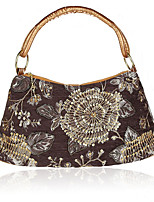 cheap -Women's Embroidery Polyester Evening Bag Floral Print Black / Red / Khaki