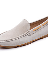 cheap -Men's Leather Shoes Cowhide Spring / Fall Casual / British Loafers & Slip-Ons Non-slipping Black / Brown / Beige / Party & Evening