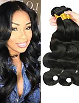Недорогие -6 Связок Перуанские волосы Естественные кудри Необработанные натуральные волосы 100% Remy Hair Weave Bundles Головные уборы Человека ткет Волосы Пучок волос 8-28 дюймовый Естественный цвет