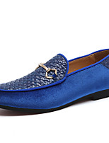 cheap -Men's Formal Shoes Synthetics Spring & Summer / Fall & Winter Casual / British Loafers & Slip-Ons Non-slipping Black / Blue