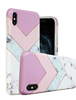 cheap -Case For Apple iPhone XS / iPhone XR / iPhone XS Max IMD / Pattern Back Cover Marble Soft TPU