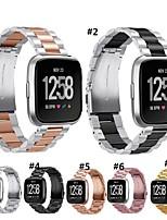 Недорогие -Ремешок для часов для Fitbit Versa Fitbit Современная застежка Металл Повязка на запястье