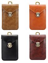 Недорогие -5,7-дюймовый чехол для универсального держателя карты сумка / поясная сумка из сплошной кожи