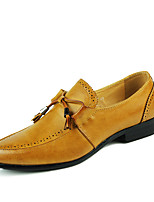 cheap -Men's Spring & Summer / Fall & Winter Casual / British Wedding Daily Loafers & Slip-Ons Walking Shoes Faux Leather Non-slipping Wear Proof Black / Yellow / Red / Tassel