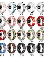Недорогие -SmartWatch Band для Apple Watch серии 4/3/2/1 силиконовые классические пряжки iwatch ремешок цвет