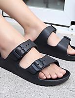 cheap -Women's Slippers & Flip-Flops Summer Flat Heel Open Toe Minimalism Daily Color Block Synthetics White / Black / Red