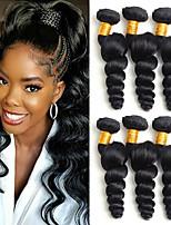 Недорогие -6 Связок Бразильские волосы Свободные волны Необработанные натуральные волосы 100% Remy Hair Weave Bundles Человека ткет Волосы Пучок волос Накладки из натуральных волос 8-28 дюймовый / Без запаха