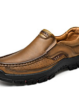 cheap -Men's Fall / Spring & Summer Casual / British Daily Party & Evening Loafers & Slip-Ons Nappa Leather Breathable Non-slipping Shock Absorbing Dark Brown / Black / Khaki