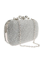cheap -Women's Crystals / Chain Polyester Evening Bag Solid Color Silver