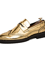 cheap -Men's Summer / Fall Classic / British Daily Office & Career Loafers & Slip-Ons Faux Leather Non-slipping Wear Proof Black / Gold