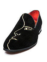 cheap -Men's Spring / Summer Classic / Casual / Vintage Daily Office & Career Loafers & Slip-Ons Suede Breathable Non-slipping Wear Proof Black