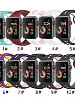 Недорогие -Ремешок для часов для Серия Apple Watch 5/4/3/2/1 Apple Спортивный ремешок силиконовый Повязка на запястье