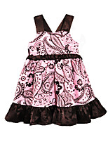 cheap -Toddler Girls' Active Basic Floral Print Sleeveless Knee-length Dress Blushing Pink