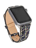 Недорогие -Ремешок для часов для Серия Apple Watch 5/4/3/2/1 Apple Дизайн украшения Натуральная кожа Повязка на запястье