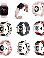 Недорогие -ремешок SmartWatch из натуральной кожи для серии Apple Watch плюс прозрачный защитный чехол 40/44 мм костюм ремешок iwatch