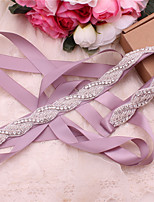 cheap -Satin / Tulle Wedding / Party / Evening Sash With Crystal / Belt / Appliques Women's Sashes