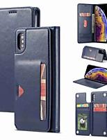 Недорогие -чехол для яблока iphone xr / iphone xs max магнитный / флип / противоударный чехлы для всего тела сплошная твердая кожа pu для iphone 6 / 6s plus / 7/8 plus / xs / x