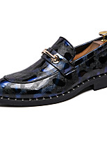 cheap -Men's Formal Shoes Synthetics Spring / Fall & Winter Casual / British Loafers & Slip-Ons Non-slipping Black / Wine / Blue