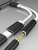 Недорогие -Type-C Адаптер 0.2m (0.65Ft) От 1 до 2 ПВХ Адаптер USB-кабеля Назначение Huawei