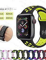 Недорогие -SmartWatch Band для Apple Watch серии 4/3/2/1 Apple, спортивный браслет силиконовый ремешок