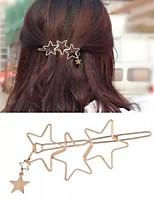 cheap -Women's Girls' Hair Jewelry For Festival Pentagram Alloy Silver Golden 1pc