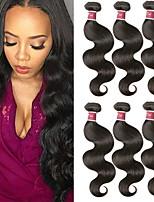 Недорогие -6 Связок Перуанские волосы Естественные кудри человеческие волосы Remy 100% Remy Hair Weave Bundles Человека ткет Волосы Удлинитель Пучок волос 8-28 дюймовый Естественный цвет Ткет человеческих волос