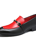 cheap -Men's Formal Shoes Synthetics Spring / Fall & Winter Casual / British Loafers & Slip-Ons Non-slipping Black / Wine