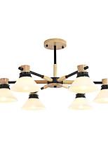 Недорогие -JSGYlights 6-Light Люстры и лампы Потолочный светильник Окрашенные отделки Дерево Дерево / бамбук Стекло Новый дизайн 110-120Вольт / 220-240Вольт