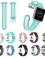 Недорогие -SmartWatch Band для Apple Watch серии 4/3/2/1 силикагель классический пряжка ремешок iwatch