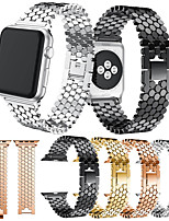 abordables -Bracelet de Montre  pour Apple Watch Series 5/4/3/2/1 Apple Design de bijoux Acier Inoxydable Sangle de Poignet