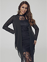 cheap -Long Sleeve Chiffon Wedding / Party / Evening Women's Wrap With Lace-up / Solid Coats / Jackets