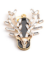 cheap -LITBest Crystal deer head - Gold 32GB USB Flash Drives USB 2.0 Creative For Car