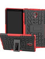 Недорогие -Кейс для Назначение SSamsung Galaxy Tab S4 10.5 (2018) / Tab A2 10.5(2018) T595 T590 / Tab S3 9.7 Защита от удара / со стендом Кейс на заднюю панель броня Твердый ПК