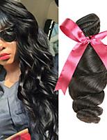 Недорогие -4 Связки Бразильские волосы Свободные волны Необработанные натуральные волосы Человека ткет Волосы Удлинитель Пучок волос 8-28 дюймовый Естественный цвет Ткет человеческих волос Без запаха Sexy Lady