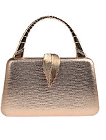 cheap -Women's Polyester / Alloy Evening Bag Solid Color Black / Champagne / Gold